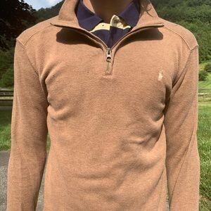 Polo pullover brown